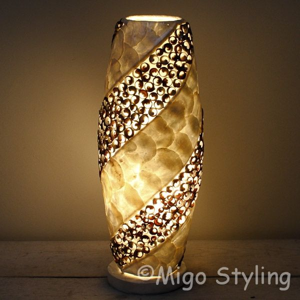Tafellamp Schelpen design spiraal donker