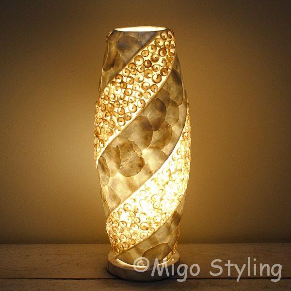Tafellamp Schelpen design spiraal zandkleur