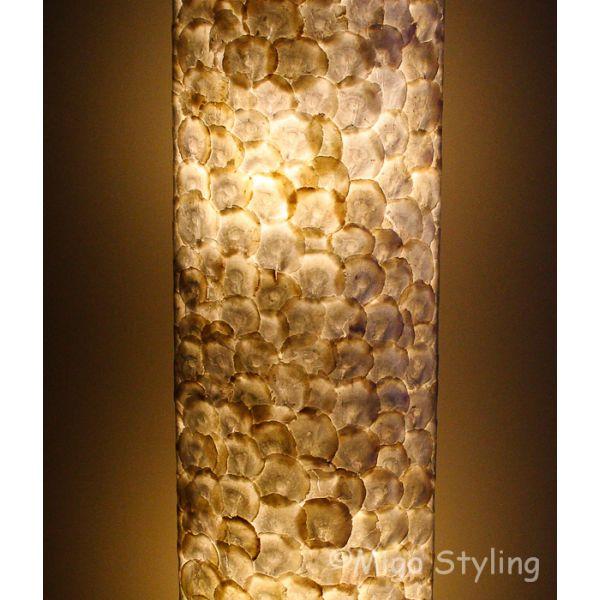 Vloerlamp Parelmoer schelpenovaal 150 cm