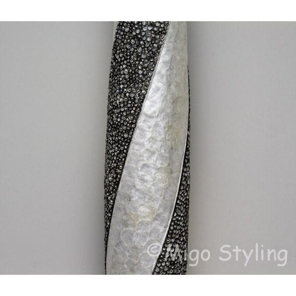 Vloerlamp Cone spiraal design wit antraciet