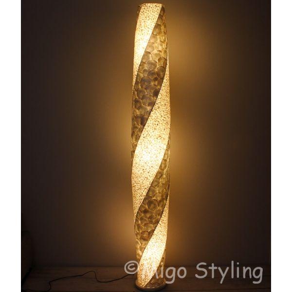 Vloerlamp Cone spiraal design zandkleur 200 cm