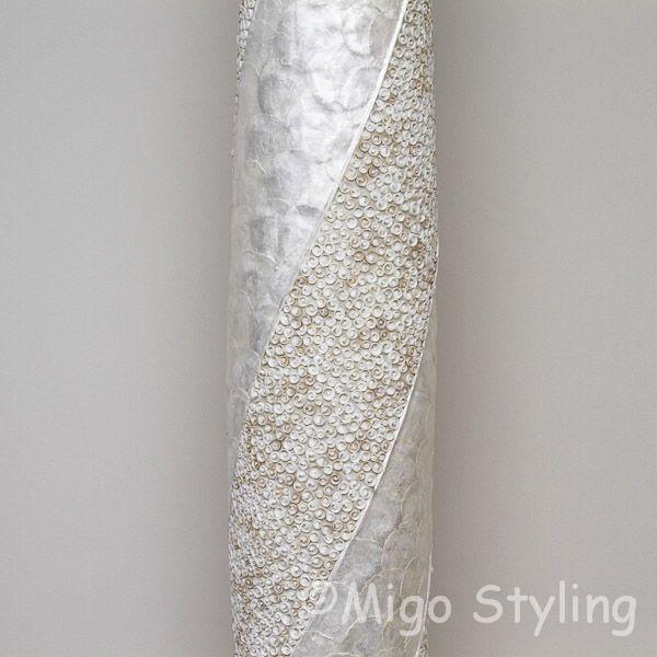 Vloerlamp Cone spiraal design zandkleur 170 cm