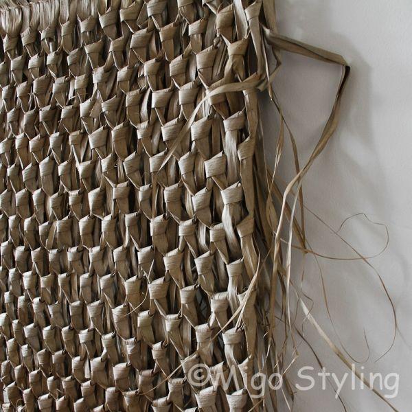 Wanddecoratie palmblad aan stok