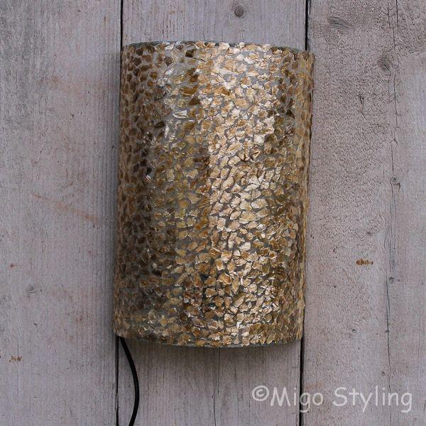 Wandlamp schelp copper