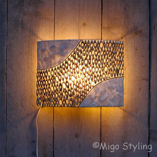 Wandlamp bamboe licht 35 cm breed